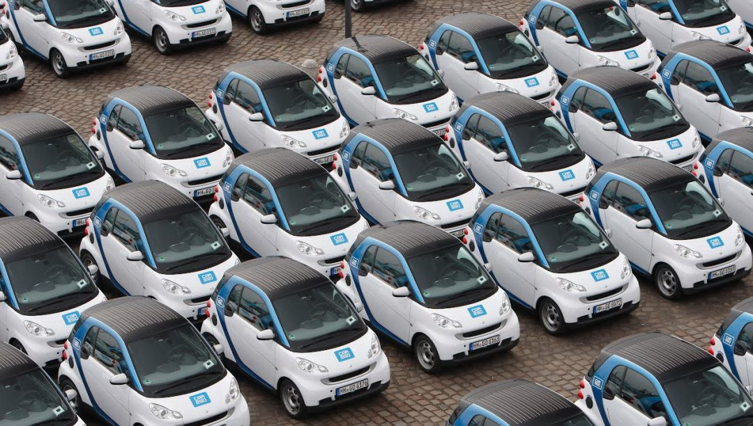 Google Maps car sharing bike sharing