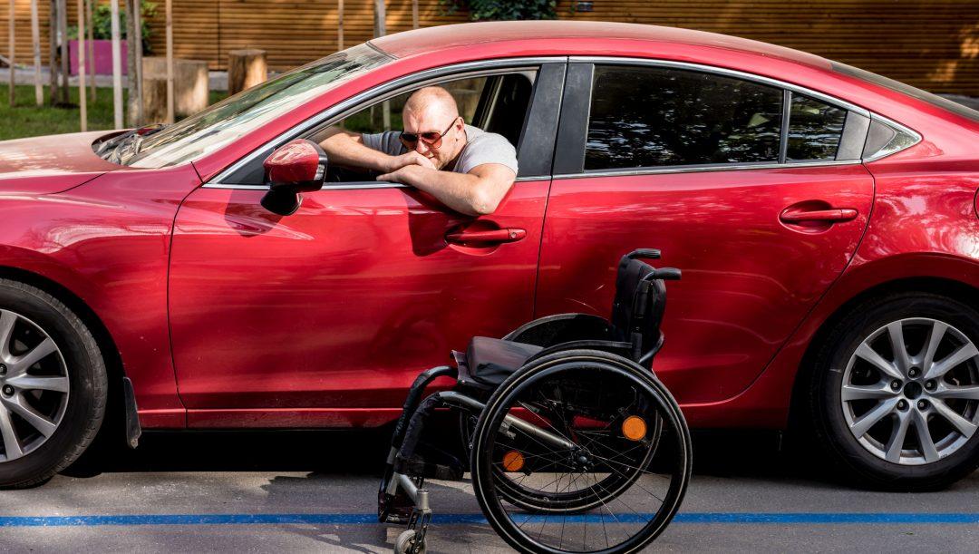 parcheggio per disabili personalizzato