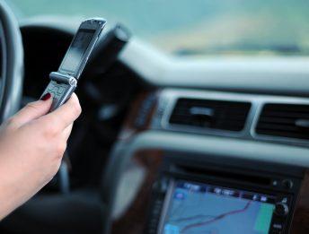 Smartphone al volante telecamere